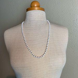 Vintage white Monet beaded necklace